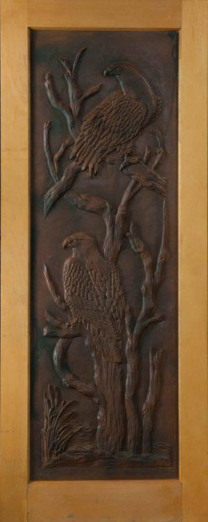 designer door eagle carving