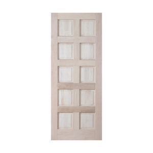 10 Panel Entrance Door