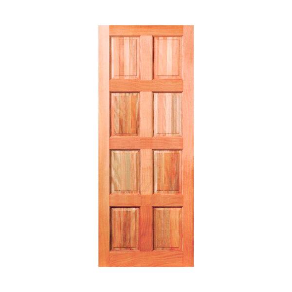 8 Panel Stained Meranti Door